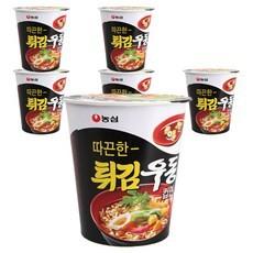2213-1  농심 튀김우동 컵면 62g 1+1 특가 판매