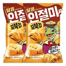 3406-1 오리온 꼬북칩 달콩인절미맛 1+1
