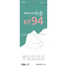 올바른 숨결 바른 KF94 대형 1매/4중구조 /FDA, CE 인증 /국내생산