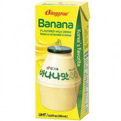 1723 빙그레 멸균 바나나우유 1개/200ml (200ml X 6개 단위 비닐팩 포장 수입)