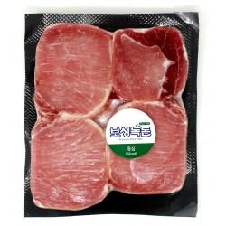 F9352 名品 녹차 먹인 돼지 '보성녹돈' 등심(Loin) 500g (20mm) / 탕수육, 돈가스 추천 부위